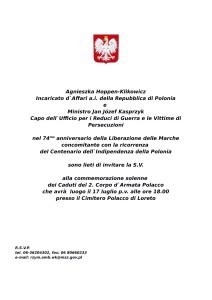Invito - Commemorazione Caduti Loreto 17.07-1