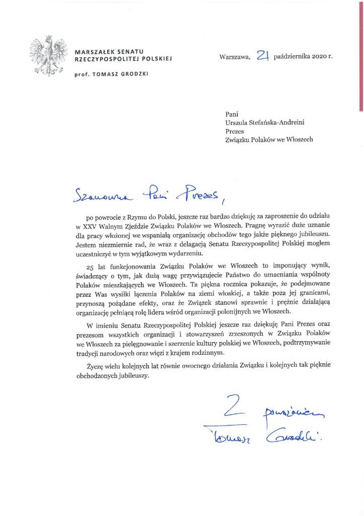 Podziękowania od Marszałka Senatu_page-0001