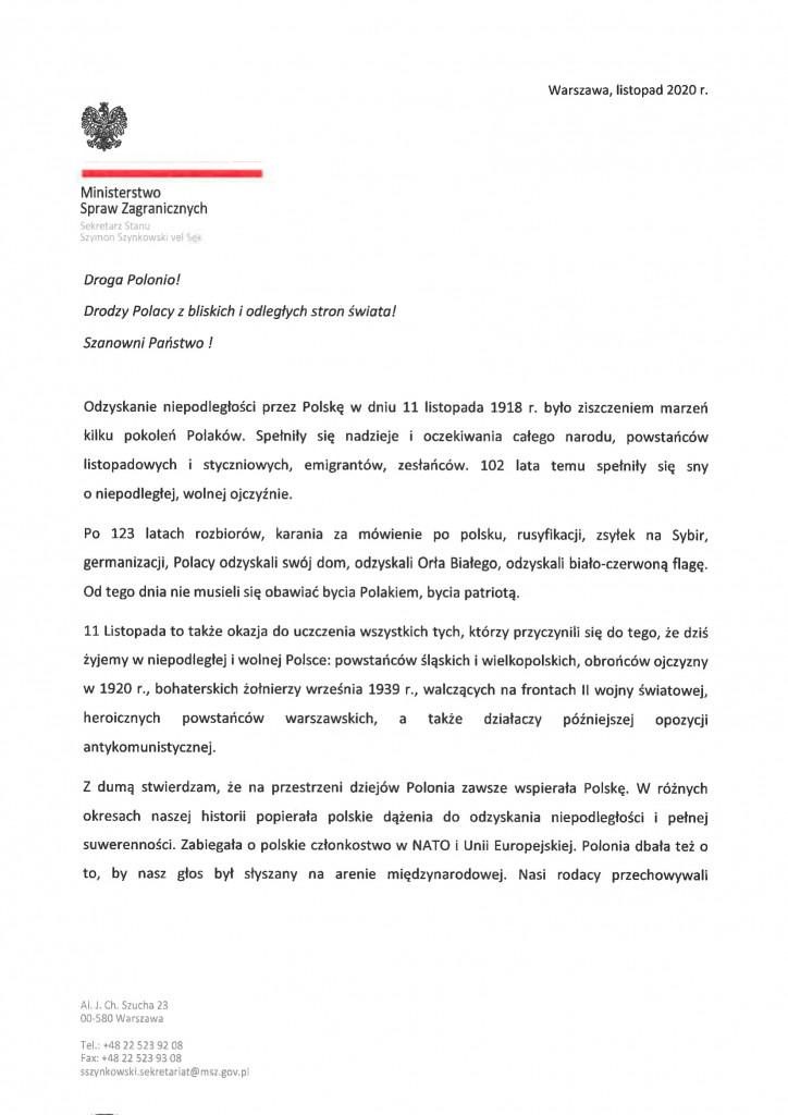życzenia MSSvS z okazji 11.11-1